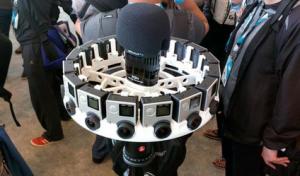 Abbildung des Jump Actionkamerasystems in einer Anordnung mit 16 Cams