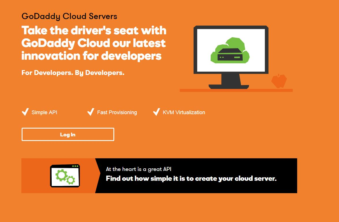 Screenshot GoDaddy Cloud Angebot Sommer2017