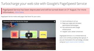 Google stellt den PageSpeed Service am 3.August 2015 ein