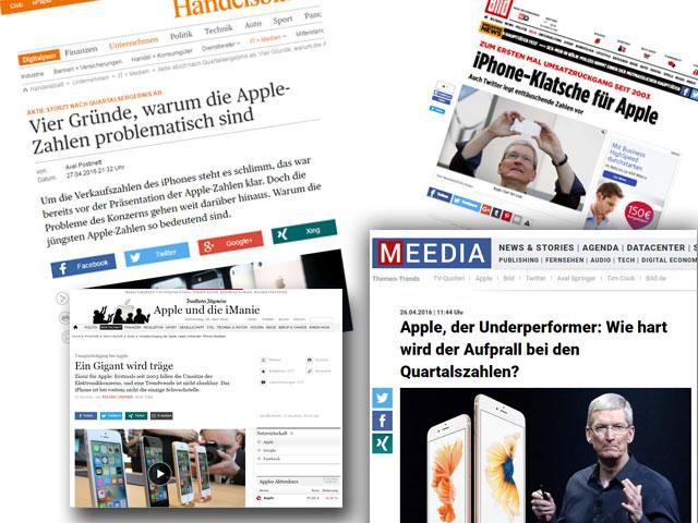 Apple-Berichterstattung mit dramatischen Schlagzeilen: Nur noch 10 Milliarden Dollar Gewinn