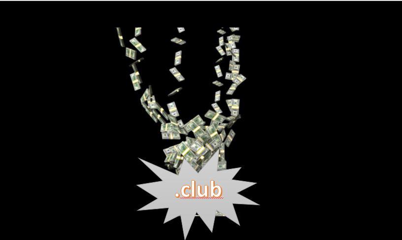 Bisher 5 Mio Dollar Erlös durch .club Premium Domains