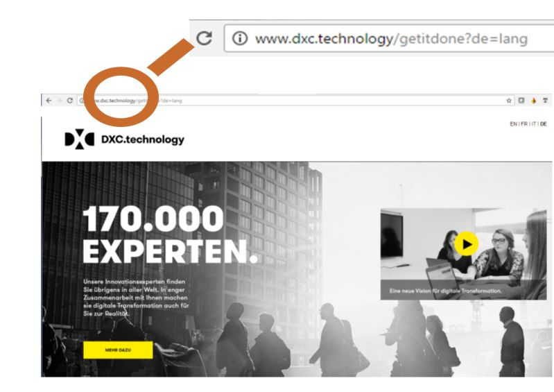 DXC kommuniziert mit .technology neue Topl Level Domain