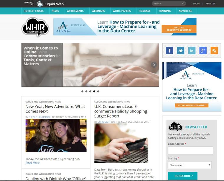 Nacvh 17 Jahren wird The WHIR (The Webhost Industry Review) nun eingestellt.