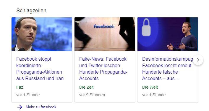 Facebook löscht, Presse freut sich